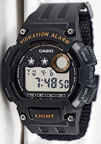 Casio Men's 'Super Illuminator' Quartz Black Casual Watch (Model: W735HB-1AV)