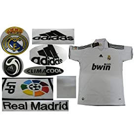 08-09 REAL MADRID HOME JERSEY + FREE SHORT (SIZE M)