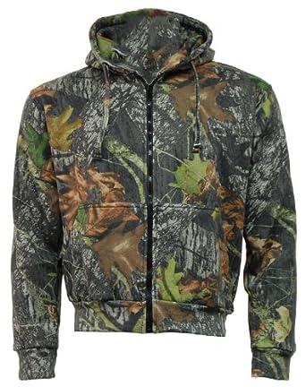 Mens Camouflage MOSS Camo Hoodie Hooded Zip Zipper Top / Jacket - Hunting Shooting Fishing