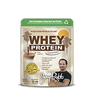Jay Robb - Grass-Fed Whey Isolate Chocolate Protein Powder, Outrageously Delicious, 12 oz.