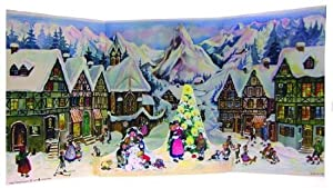 1952 Mountain Village Christmas German Advent Calendar from Sellmer Verlag