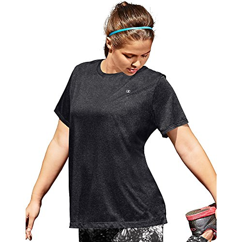 Champion Vapor® Women's Plus Heather Tee, Granite Heather, 2X