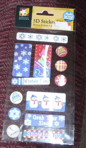 AMERICAN TRADITIONAL 3D WINTER FUN STICKERS