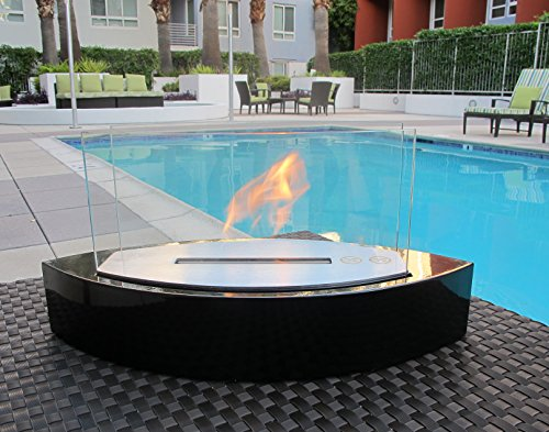 Chic Fireplaces- Luxury Concord Black High Quality Table Top Ventless Bio Ethanol Fireplace Indoor / Outdoor