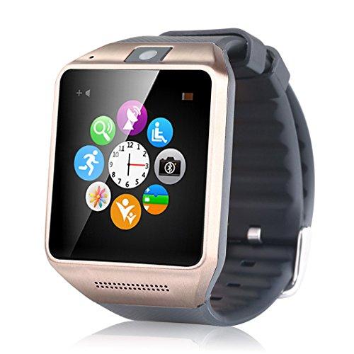 Netspower Nuovo Ultime GV08 multifunzionale senza fili Bluetooth SIM smart orologio da polso Watch Phone Avvolgere il supporto per tutte astuto del Android Moblie Phone (GV08 Oro)