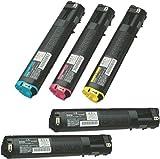 【5本】LP-M5000/S5000 カラー4色セット+黒 大容量リサイクルトナーカートリッジセイコーエプソンレーザープリンタ複合機用