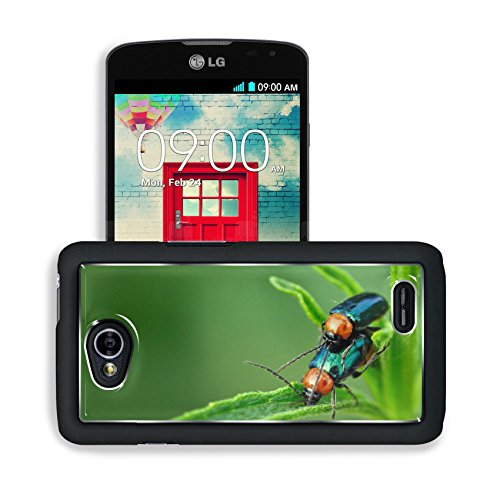 Green Steam Nature Bugs Macro Stem Lg Optimus L70 Dual D325 Snap Cover Premium Aluminium Design Back Plate Case Open Ports Customized Made To Order Support Ready 5 2/16 Inch (130Mm) X 2 12/16 Inch (70Mm) X 11/16 Inch (17Mm) Msd L70 Professional Cases Acce