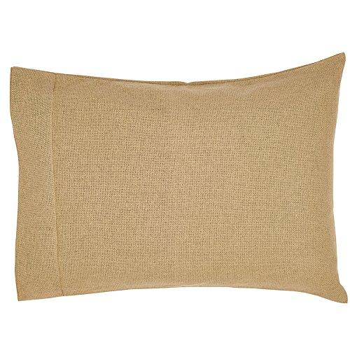 """Burlap Natural Pillow Case Set Of 2 21X30"""""""