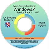 Windows 7, ANY VERSION, 64 Bit, Service Pack 1, x64, SP1, Home Basic, Home Premium, Professional, or Ultimate, Repair, Recovery, Restore, Re Install, Reinstall, Fix, Boot Disk, DVD, [DVD-ROM],Operating System Recovery