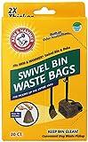 Arm & Hammer 71035 Swivel Bin Waste Bags, Penny, 20-Pack