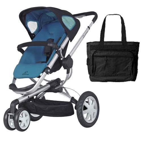 Quinny Cv155Bfwkt1 Buzz 3 Stroller With Diaper Bag - Blue Scratch front-1011558