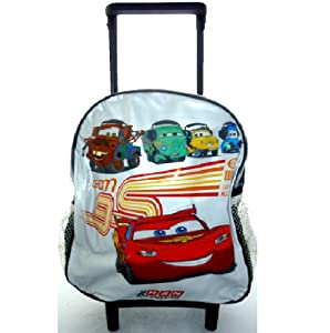 Disney Cars Mcqueen Junior Trolley Wheeled Roller Kids School Travel Bag B24302