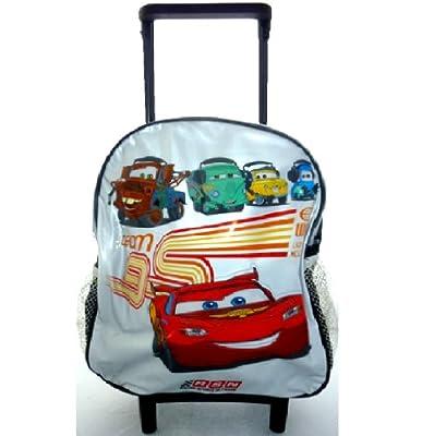 Disney Cars Mcqueen Junior Trolley Wheeled Roller Kids School Travel Bag B24302 by DISNEY CARS