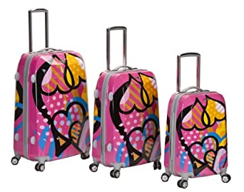 Click to buy Hard Sided Luggage: Rockland Luggage Vision Polycarbonate 3 Piece Luggage Setfrom Amazon!