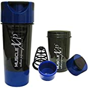 MuscleXP Advanced Mixer Gym Shaker For Professionals (Black And Blue) 500ml - Design 10