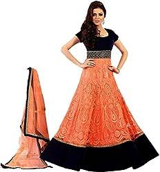 Panihari Enterprise Orange Designer Dress Materials