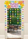 Amscan Hawaiian Hibiscus Door Curtains