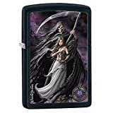 Zippo Anne Stokes Woman and Reaper Black Matte Pocket Lighter (Color: Black Matte)