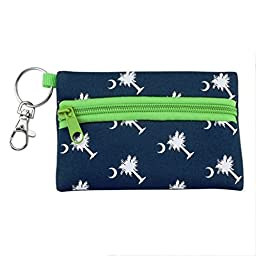 Palmetto Moon Blue and Green 5 x 3.5 Neoprene ID Holder and Carrying Case