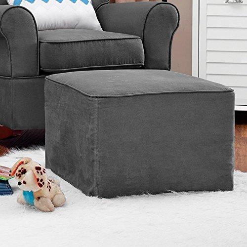 Baby Relax The Mackenzie Microfiber Plush Nursery Ottoman - 1