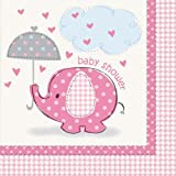 Girl Umbrellaphants Napkins