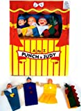 Punch & Judy Childrens Puppet Theatre Show with 4 Hand Puppets Kids Toy