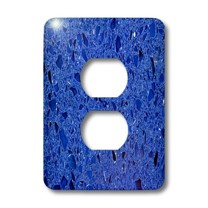Lsp_174368_6 Florene - Designer Texture Ii - Image Of China Bright Blue Quartz - Light Switch Covers - 2 Plug Outlet Cover