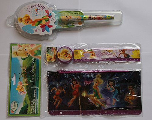 Bundle of 2: Tinkerbell 4 Piece Study Kit and Notepad with Pen