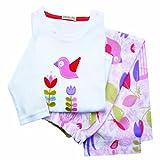 Mädchen-Schlafanzug Pyjama Baumwolle 2 bis 4 Jahre tweet tweet