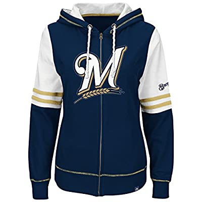 Milwaukee Brewers Big Time Attitude Women's Hooded Long Sleeve Shirt