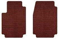 Intro-Tech Sisal Front Row Custom Floor Mats for Select Ford Aerostar Models - Natural (Burgundy)