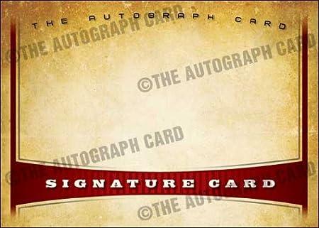 Card Signatures Signature Autographed Card