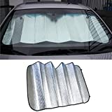 Iuhan® Fashion Car sun shade 140 X 70cm double-sided silver bubble cotton Sun insulation