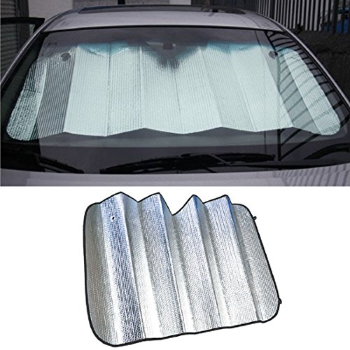 Iuhan® Fashion Car sun shade 140 X 70cm double-sided silver bubble cotton Sun insulation (Car Sun Visor Sticker compare prices)