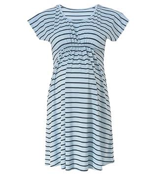 Maternity Stripe Cowl Neck Dress
