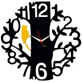Panache 1 to 12 Aluminium Wall Clock (Black)