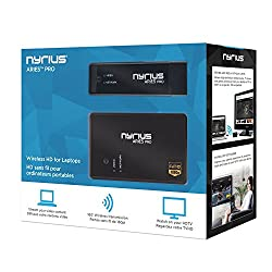 Nyrius ARIES Pro Digital Wireless HDMI Transmitter and Receiver System for Streaming HD 1080p 3D Video, Laptops, PC, Cablebox, Satellite, Blu-ray, PS3, Xbox (NPCS550)