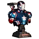 Hot Toys Iron Man 3 Iron Patroit 1:4 Scale Bust Figure Marvel's The Avengers, Multi Color