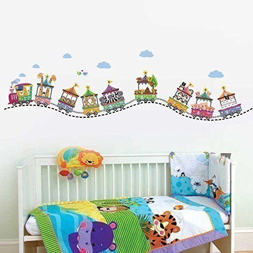 Walplus WS5014 Circus Number Wall Sticker, Multi-Colour