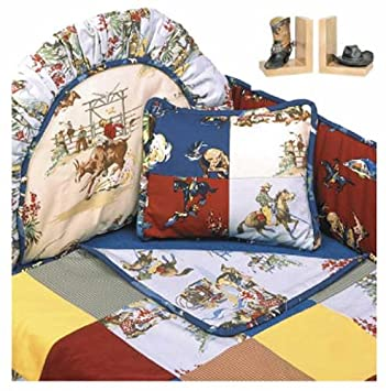 Cool California Kids Rodeo Western Themed Baby Bedding Set Standard Bumper by California Kids