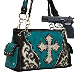Turquoise Studded Cross Conceal and Carry Purse