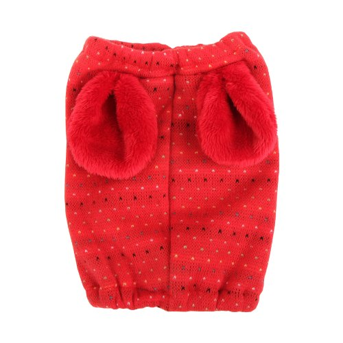 Puppia Large Authentic Yuppie Winter Snood, Red front-633347