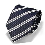 (スミスアンドスコット) Smith & Scott 全60柄 メンズ ビジネス ジャガード織 シルク 100% ネクタイ ストライプ柄 ネイビー ボルドー グレー ntjaw-22 タイプ06 03
