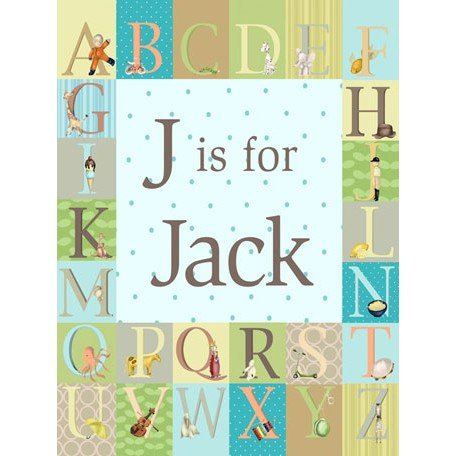 Personalized Alphabet Wall Art front-1035541