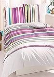 ECOREPUBLIC® Bettwäsche 2teilig 135x200+40x80 Mako-Satin 100% Baumwolle (BITTE BEACHTEN Kopfkissen 40x80cm)