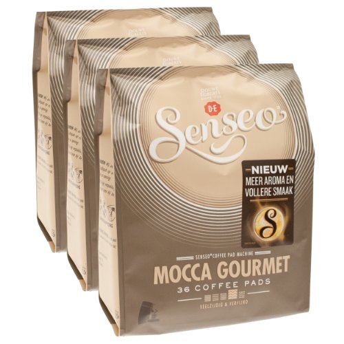 Choose Senseo Mocca Gourmet, Design, Pack of 3, 3 x 36 Coffee Pods - Douwe Egberts