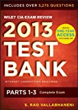 img - for Wiley CIA Exam Review 2013 Online Test Bank 1-Year Access: Complete Set (Wiley CIA Exam Review Series) book / textbook / text book