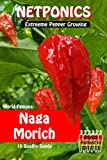 Naga Jolokia (Dorset UK Variety) Chilli seeds Ghost Chilli. The Hottest Chilli pepper on the planet. Now you can grow your own. Pack of 10 Seeds. Ghost pepper.