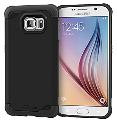 Galaxy S6 Case, roocase [Exec Tough] Galaxy S6 Slim Fit Case Hybrid PC / TPU [Corner Protection] Armor Cover Case for Samsung Galaxy S6 (2015) by rooCASE