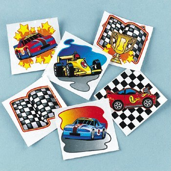 Fun Express Racing Tattoos (6 Dozen)